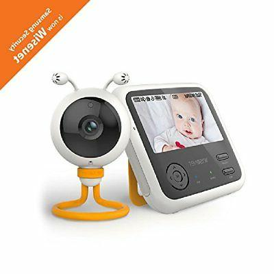 Wisenet SEW-3048WN BabyView Eco Video Baby Monitor with 4.3 inch LCD Display,...