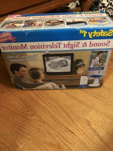 sound and sight television baby monitor new