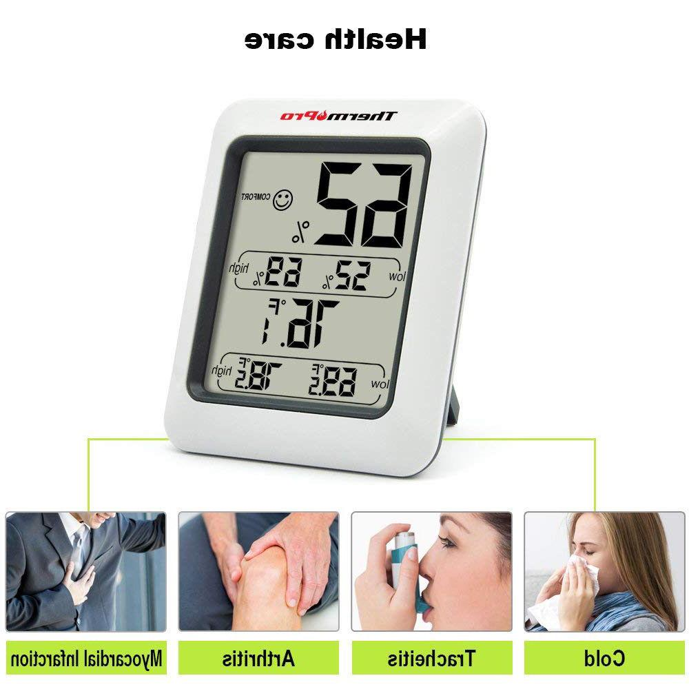 ThermoPro TP50 Digital Hygrometer Indoor Thermometer With Gauge