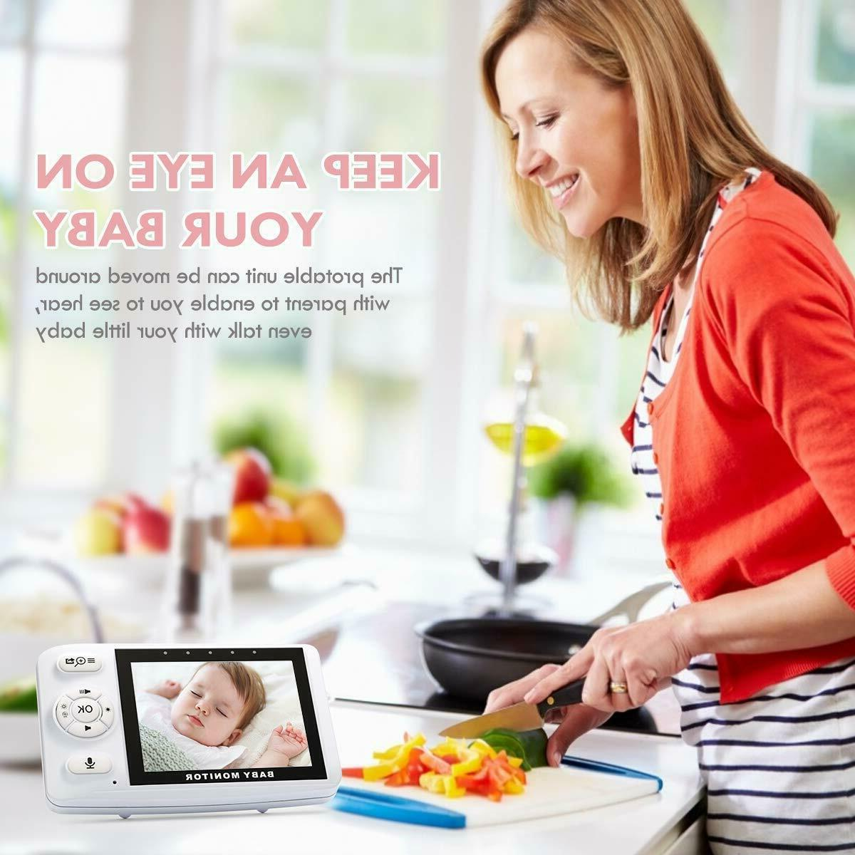 Wireless Baby Monitor with Two-Way Audio Monitor