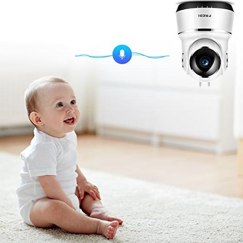 FREDI Wireless Baby Monitor Security WiFi with Function,Infrared Night WPS Ir-Cut Camera Motion