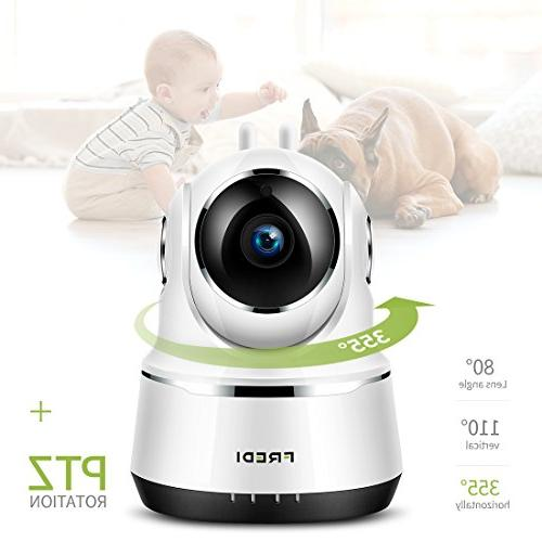FREDI Security WiFi with Two-Way Function,Infrared WPS Camera Detection Support 128GB sd