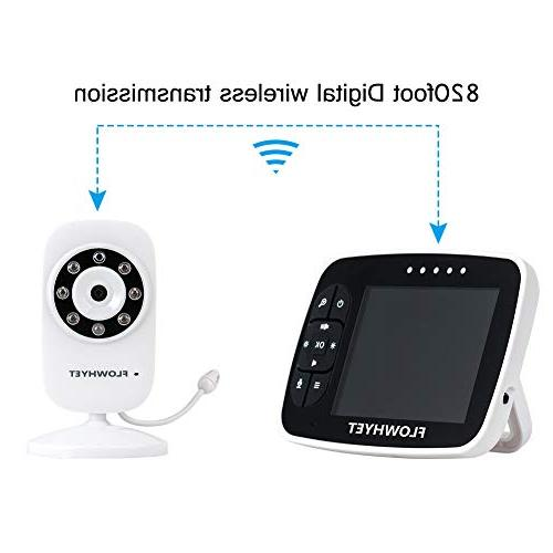 FLOWHYET Wireless Video Monitor, Inch Display with Night Mode, Lullabies