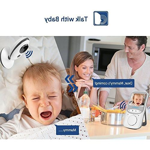 Wireless Baby with Camera 2 System Night Vision Temperature Monitor Security