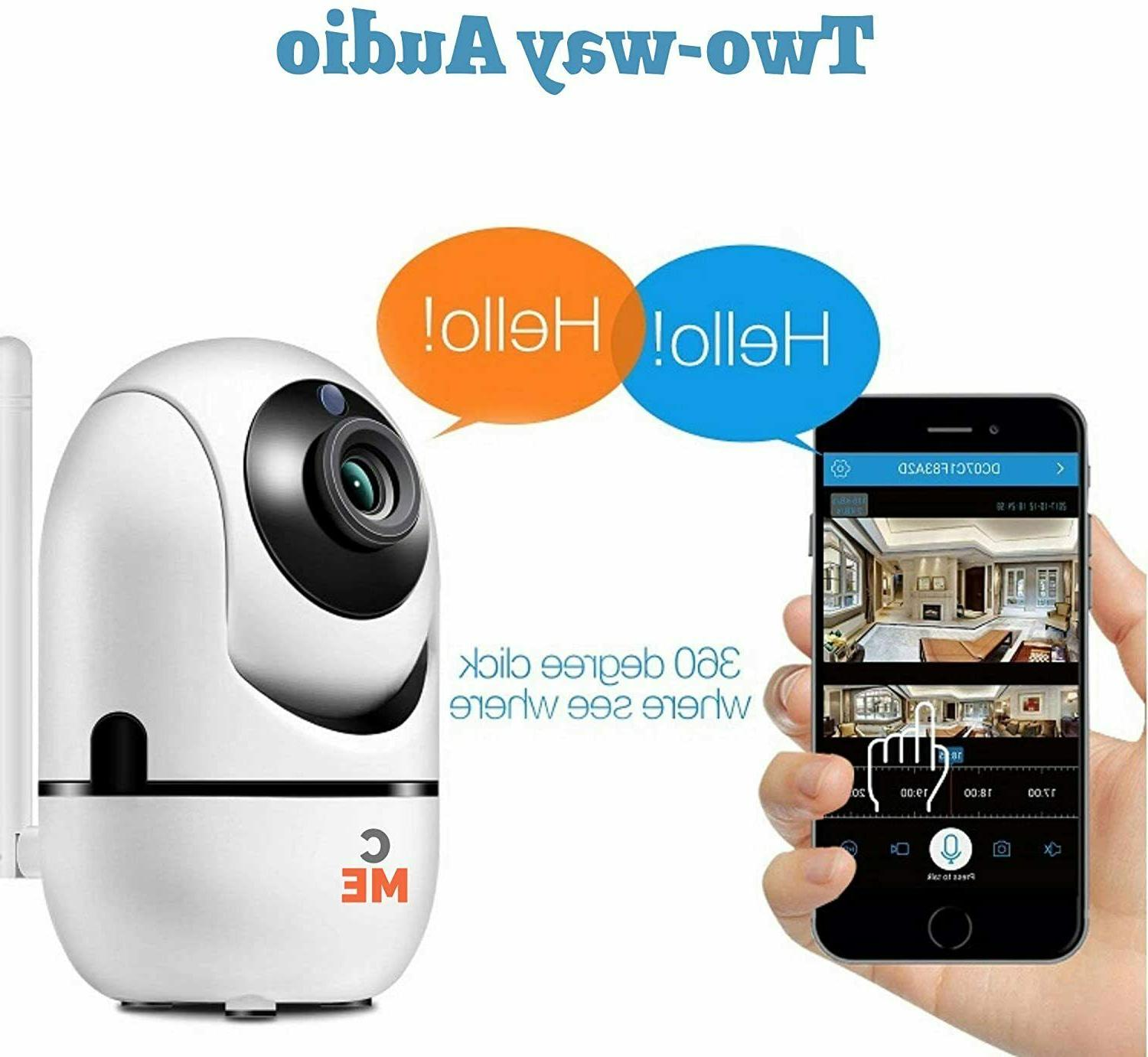 Wireless Security Camera Indoor Home Wifi Monitor Night Vision