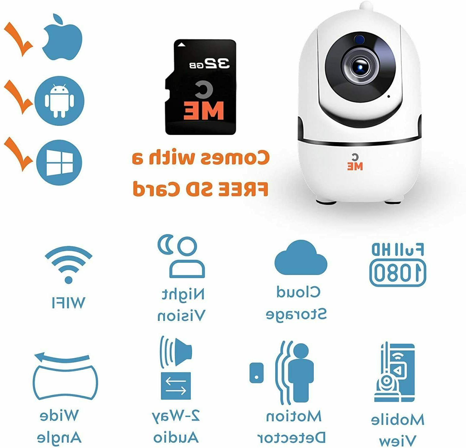 1080P Indoor Home Wifi System Baby Monitor