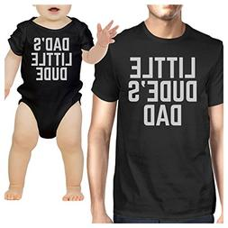 365 Printing Little Dude Black Funny Design Dad and Baby Boy