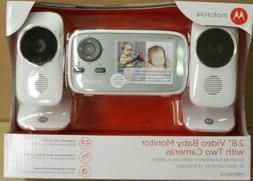 "Motorola MBP483-2 2.8"" Video Baby Infant Monitor w/ Two Came"