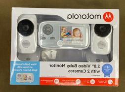 "Motorola  - 2.8"" Video Baby Infant Monitor w/ Two Cameras..."