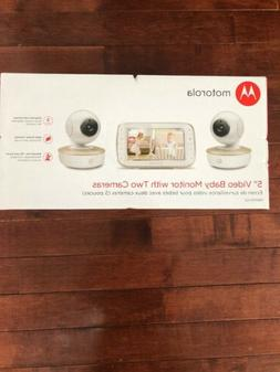 "Motorola MBP50-G2 5"" Portable Video Baby Monitor w/2 Cameras"