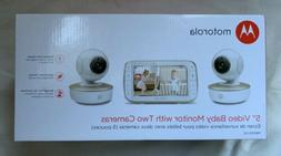 """MOTOROLA MBP50-G2 5"""" VIDEO BABY MONITOR WITH TWO CAMERAS - B"""