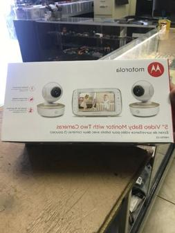 "Motorola MBP50-G2 5"" Video Baby Monitor w/2 Camera Color T"