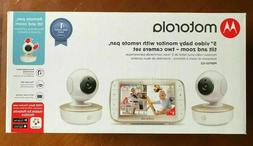 "Motorola MBP50-G2 5"" Video Baby Monitor with Two Cameras *NE"