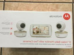 Motorola MBP50G2 5 inch Portable Video Baby Monitor 2 Camera