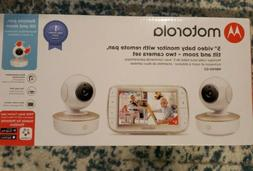 """Motorola MBP50G2 5 """" inch Portable Video Baby Monitor 2 Came"""