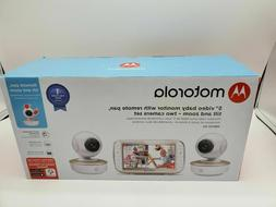 Motorola MBP50G2 5 inch Portable Video Baby Monitor with 2 C