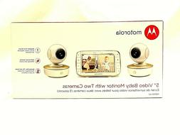 "MOTOROLA MBP50G2 5"" PORTABLE VIDEO BABY MONITOR WITH 2 CAMER"