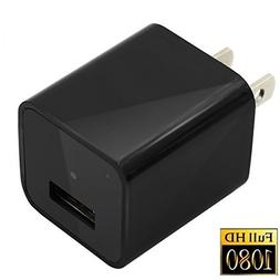 Mini Camera Charger Adapter, Moosoo 1080P HD USB Wall AC Plu