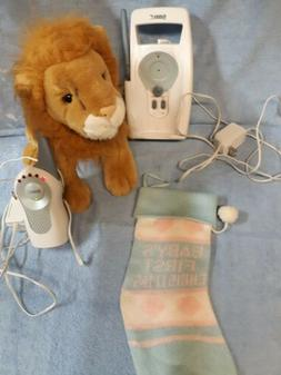 Working radio baby monitor, baby first Christmas stocking, s