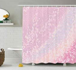 Ambesonne Modern Shower Curtain, Abstract Pattern in Pastel