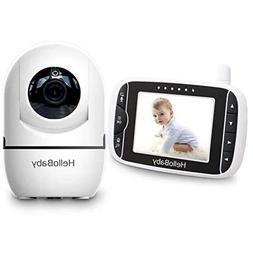 HelloBaby Baby Monitor with 3.2-Inch LCD Display Screen and