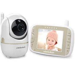 HelloBaby Baby Monitor with Remote Pan-Tilt-Zoom Camera and
