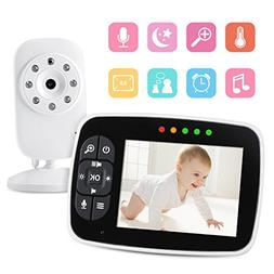"Video Baby Monitor 3.5"" Large LCD Screen Display with Night"