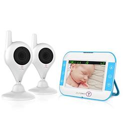 TimeFlys Video Baby Monitor TC350 2 Cameras 3.5 inch LCD Vib