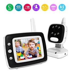 BESTHING Video Baby Monitor 3.5 Inch with Night Vision & Tem