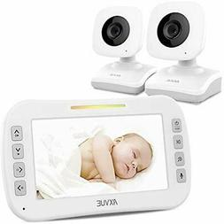 "Monitors AXVUE E612 Video Baby With 4.3"" LCD Screen And Two"