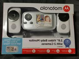 "NEW - Motorola 2.8"" Video Baby Infant Monitor w/ Two Cameras"