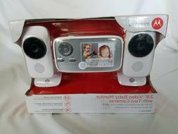 "New Motorola 2.8"" Video Baby Infant Monitor with Two Cameras"