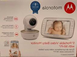 New Motorola 5 Inch Portable Video Baby Monitor With Wi-Fi
