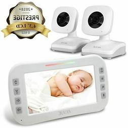 "New Axvue E612 Video Baby Monitor, 4.3"" LCD Screen and 2 Cam"