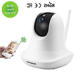 Dome Camera 1080P, Anzermo Full HD Wireless Baby Monitor, Wi
