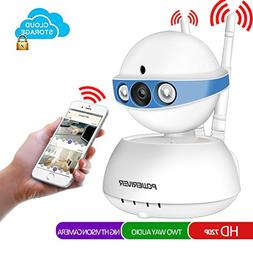 Security Camera,POWERIVER WiFi IP Indoor Security System wit