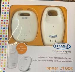 Graco Simple Sounds Analog Baby Monitor Model 2L002 500 ft R