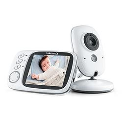 "Smart Baby Monitor with Camera 3.2"" Color Screen Wireless Lo"