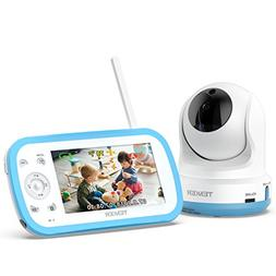 TENKER Digital Sound Activated Video Record Baby Monitor wit