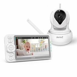 Video Baby Monitor with 720P Camera, 5 Inches Display, Cryin