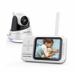 """DBPOWER Video Baby Monitor, 3.5"""" LCD Baby Monitor with Camer"""