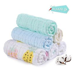 Baby Muslin Washcloths,Ultra Soft and Cotton Breathable Baby