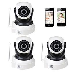 VideoSecu 3 Pack Wi-Fi IP Wireless Video Baby Monitor Day Ni