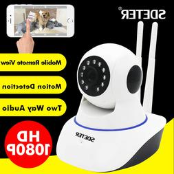 Wireless 1080P Pan Tilt Network Security CCTV IP Camera Nigh