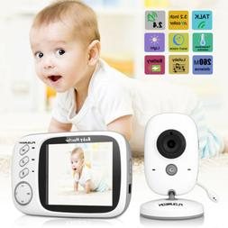 Wireless 2.4 GHz Digital Color LCD Baby Monitor Camera Night