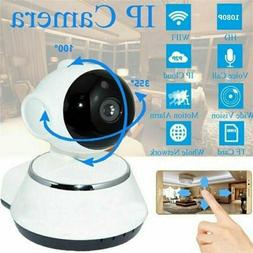 Wireless HD 720P Pan Baby Pet Monitor Network Security IP Ca